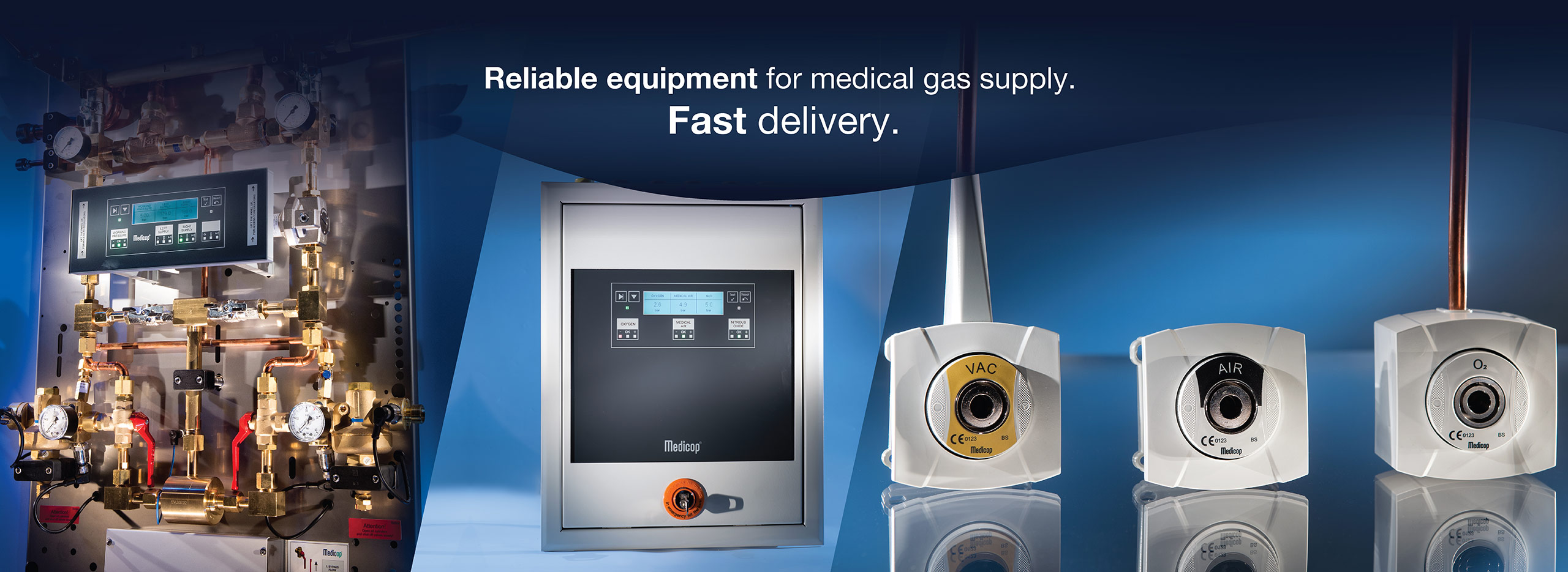 Reliable equpment for medical gas supply